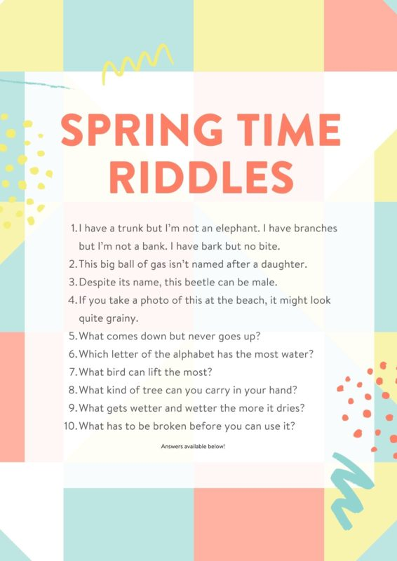 Spring Time Riddles